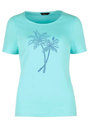 Diamante Palm Tree T-Shirt