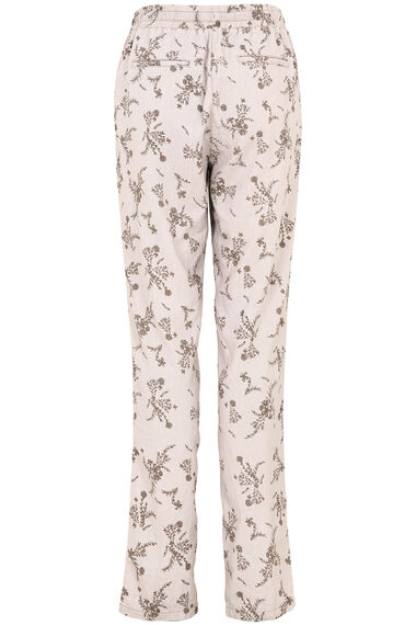 Floral Print Linen Trousers