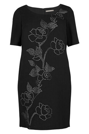 Ann Harvey Laser Cut Dress