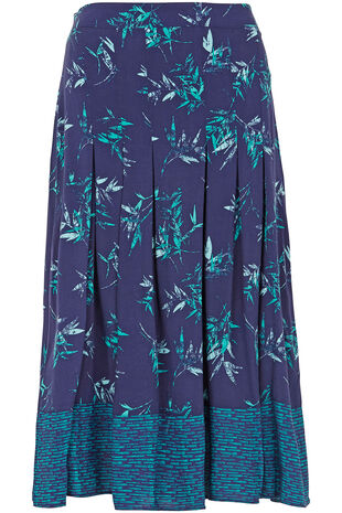 Bamboo Printed A line Skirt