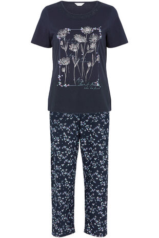 Flower Placement Print Pyjamas