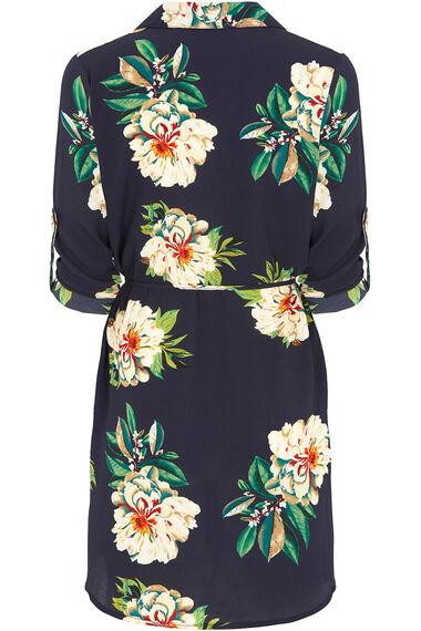 Stella Morgan Floral Longline Shirt With Belt
