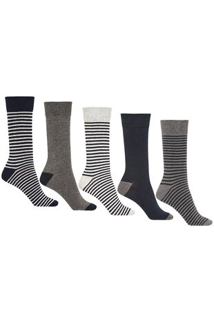 Mens 5Pck Stripe Socks