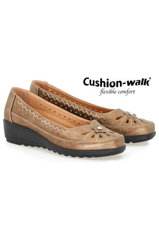 Cushion Walk Embroidered Slip On Shoe