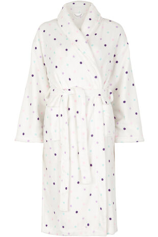 Spot Shawl Collar Robe