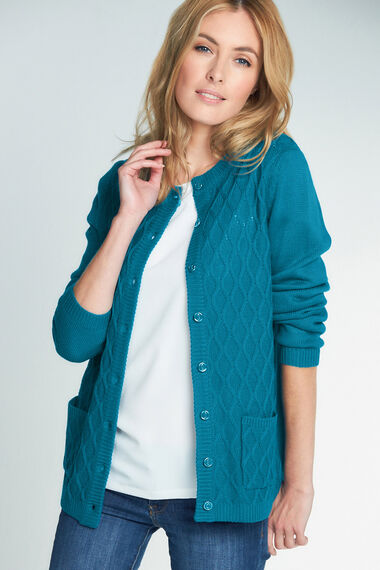 Diamond Cable Cardigan