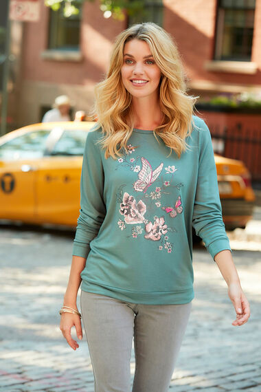 Butterfly Print Sweater