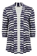 Lace Stripe Jersey Jacket