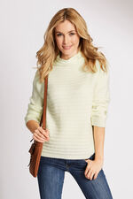 Textured High Neck Jumper