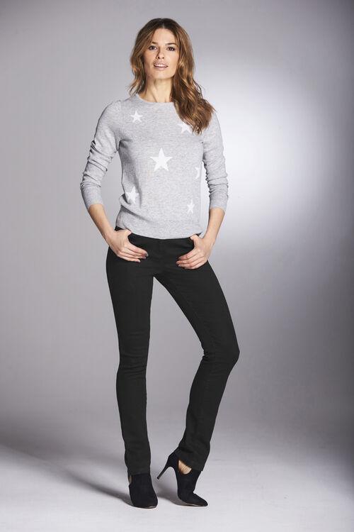 Star Intarsia Knit Sweater