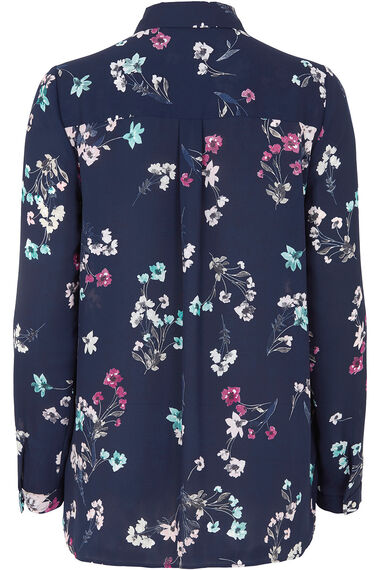 Floral Bouquet Printed Long Sleeve Shirt