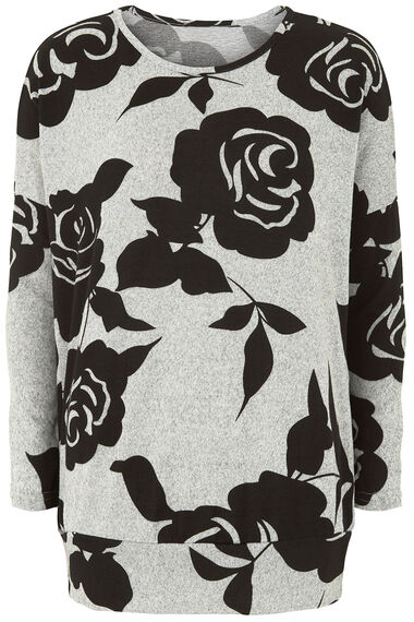 Stella Morgan Floral Print Soft Touch Sweater