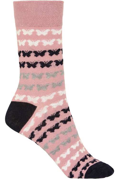 Stripe Butterfly Socks