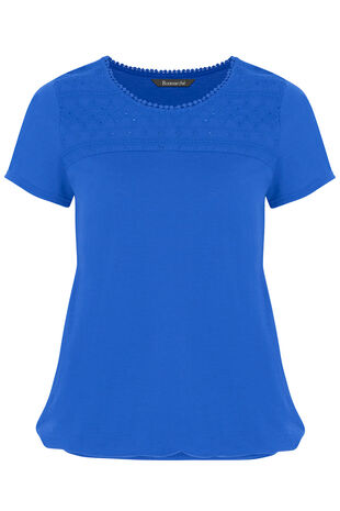 Broderie Anglaise Yoke T-Shirt