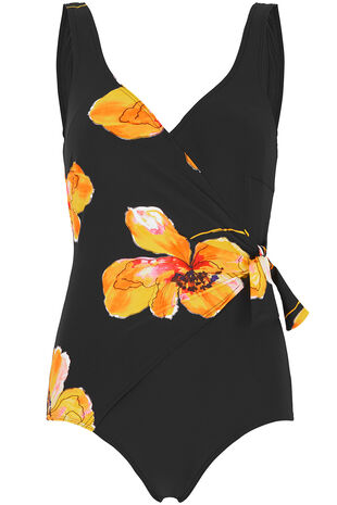 Poppy Print Tie Detail Swimsuit