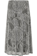 Lace Textured A Line Skirt