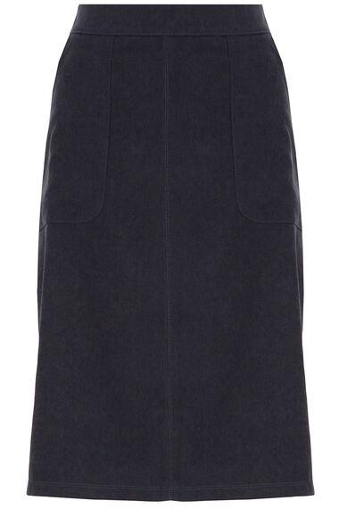 A Line Faux Moleskin Skirt
