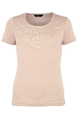 Floral Foil Print T-Shirt