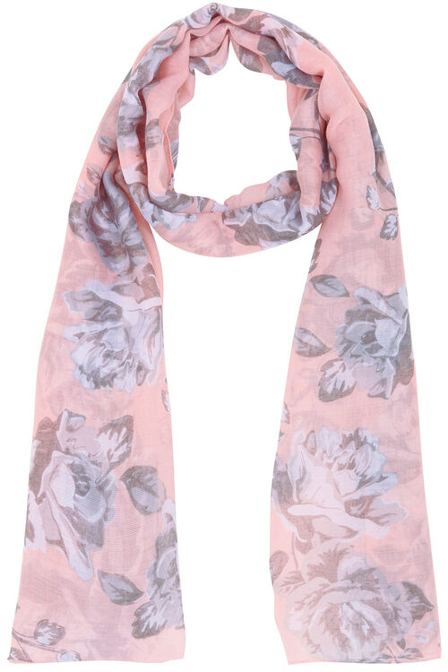 Large Bloom Floral Scarf