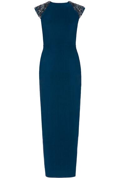 Sleeveless Embellished Maxi Dress