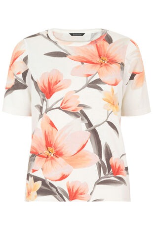 Short Sleeve Floral Printed Jumper