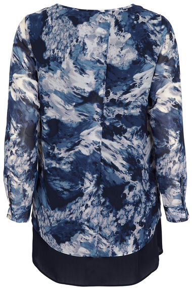 Ann Harvey Ombre Marble Print Top