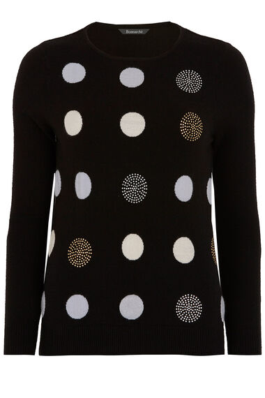 Large Spot Embellished Jumper