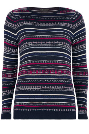 Fairisle Striped Jumper