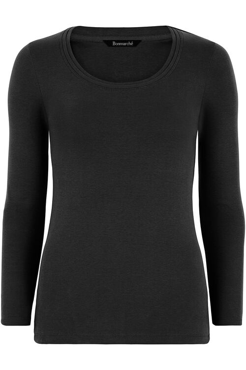 Basic Cotton Long Sleeve T-Shirt