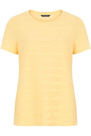Textured Stripe Crew Neck T-Shirt