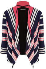Stripe Waterfall Jersey Cover Up