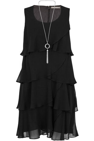 Ann Harvey Chiffon Tiered Dress