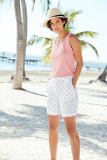Anchor Print Essential Cotton Shorts