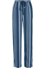 Stripe Wide Leg Belted Trousers