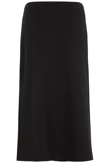 Ponte Skirt With Pleat
