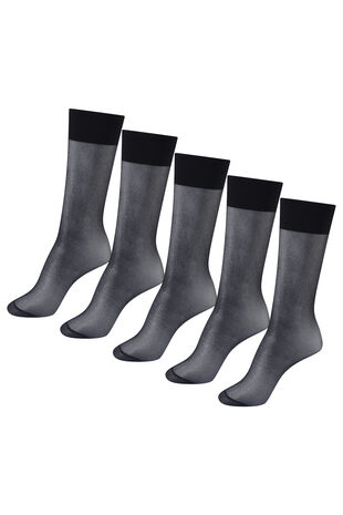 5 Pairs of 15 Denier Knee High Pop Socks
