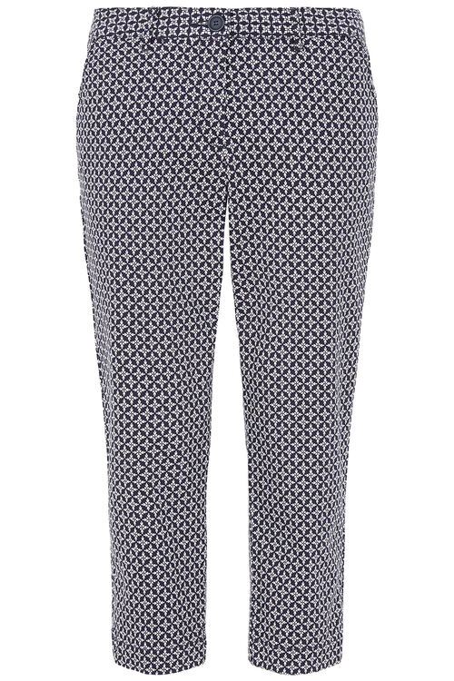 Geo Print Capri Trousers