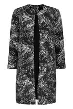 Animal Print  Dress Coat