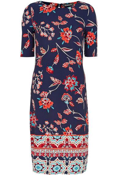 Border Print Jersey Tunic Dress