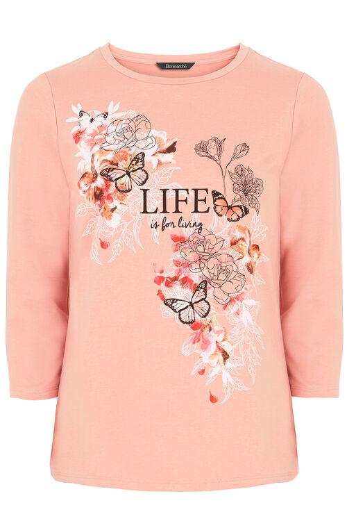 Slogan Print Sweater