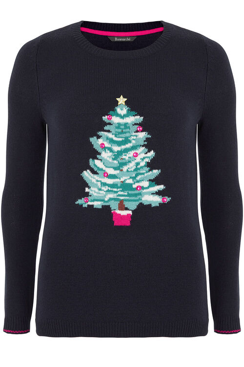 Christmas Tree Intarsia Jumper