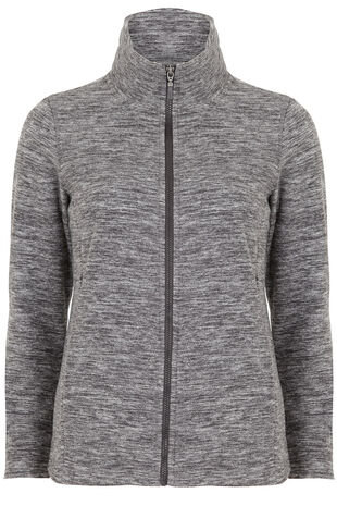 Zip Through Marl Fleece