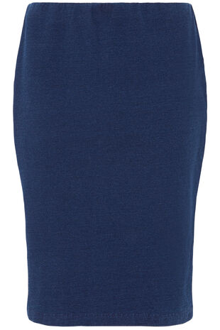 Denim Jersey Pencil Skirt