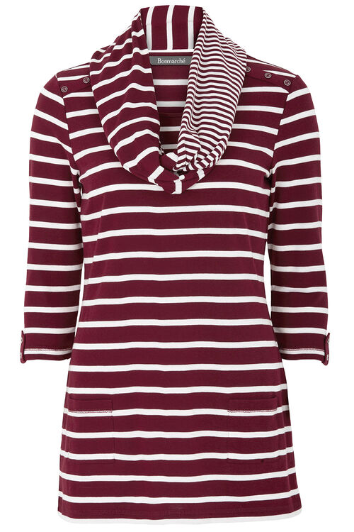 Stripe Tunic with Scarf