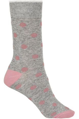Pink Lurex Spot Socks