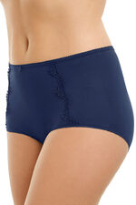Guipure Lace Trim Microfibre Full Brief