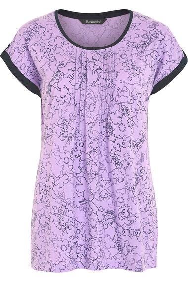 Sketchy Floral Print T-Shirt