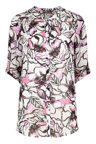 David Emanuel Inky Floral Print Blouse