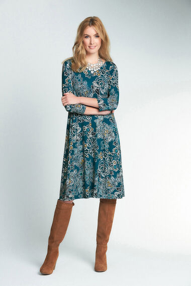 Frontier Blooms Swing Dress