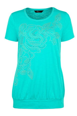 Diamante Swirl Placement T-Shirt